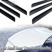 Unpainted Fit For AUDI A6 C7 4D Saloon Rear Trunk Boot Lip Spoiler 2016-2017