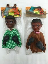 Muhammad Ali Vintage 1970s Boxing Action Hand Puppet Cassius Clay boxer X 2