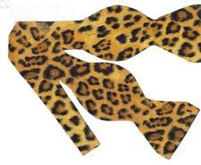 Jaguar Print Bow Tie / Jaguar Spots on Deep Gold / Wild Cat / Self-tie Bow tie
