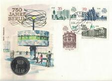 Numisbrief DDR 750 Jahre Berlin II 1987 mit 5 Mark Münze Alexanderplatz