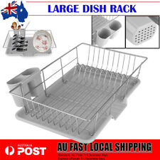 Dish Drainer Drying Dish Rack Strainer Cups Plates Caravan utensils Holder Tray