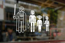 25cm Fun Stick Family Star Wars Jedi Wader Vinyl Stickers Funny Decals Car Auto