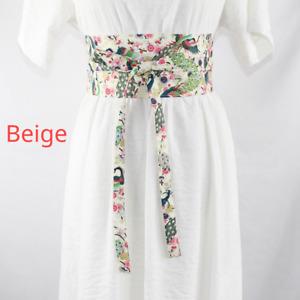 Wide Japanese Belt Corset Obi Floral Tie Waistbands Kimono Yukata Chic Sash Long