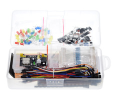 Electronics Component Basic Starter Kit With 830 Tie Points Breadboard Cable Res