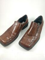 Steve Madden Men's  Leather Loafers Slip On  Driving Shoes Novo Brown Size 9