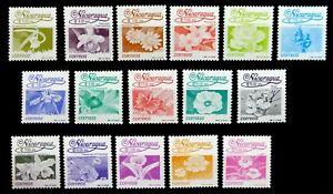 NICARAGUA 1991 Flowers Complete (16) SG3087/3102 Cat £82 U/M NM96