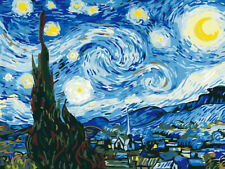 Paint by Numbers Kit for Adults Arylic Painting by Number On Canvas Starry Night