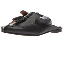 Franco Sarto Prentice Slip On Mules Sz 9.5 M Black Double Tassel Backless