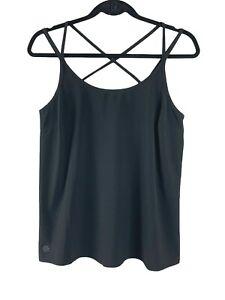 Athleta Women's Black Strappy Halter Top Athletic Wear Size Small