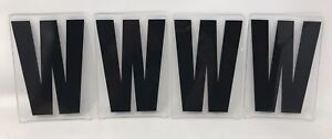 """VTG GEMINI MARQUEE SIGN DISPLAY LETTER 6'' IN """"W"""" MOVIE THEATER PLASTIC Lot of 4"""