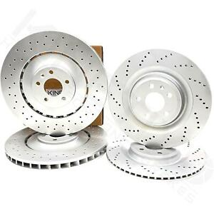 FOR AUDI S8 FRONT REAR CROSS DRILLED PERFORMANCE BRAKE DISCS 400mm 356mm FR RR