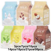 A'PIEU Milk One-Pack Mask Sheet 21g (3/7/10/14/17/21/30pcs)
