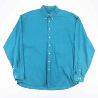 Vintage EVERGREEN Turquoise Blue Casual Shirt Size Men's XL