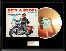 PHIL SPECTOR THE CRYSTALS HE'S A REBEL GOLD METALIZED VINYL RECORD RARE NON RIAA