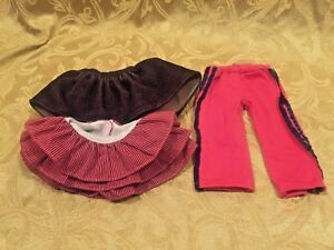 "Lot of Battat Doll Clothes Skirts and Pants Fits 18"" Dolls"