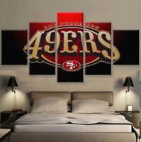 San Francisco 49ers Football 5 pcs Painting Printed Canvas Wall Art Home Decor