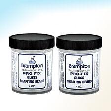 2 Jars of Four (4) Oz Jar Brampton Pro-Fix Glass Shafting Beads