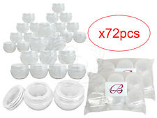 72 Pieces 10 Gram/10ml White Round Frosted Sample Jars with Inner Liner and Lid