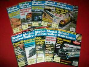 10-VINTAGE COLLECTIBLE MODEL RAILROADER MAGAZINE ISSUES 2002 LISTING #3/5 EXC.