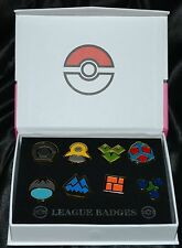 Set of 8 Sinnoh League Pokemon Gym Leader Badges Pins Diamond Pearl & Platinum