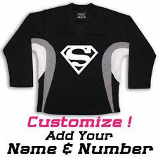 SUPERMAN Graphic On Hockey Practice Jersey Name & Number too!