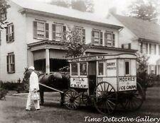 Milk & Ice Cream Wagon - early 20th century - Historic Photo Print
