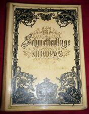 1894 Butterfly Book, 71 Chromolithographs, Hofmann Scarce Superb Celluloid Cover