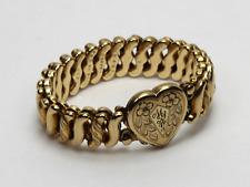Vintage Signed DFB Co. Carmen Expandable Bracelet w/Heart Locket - MRG Monogram