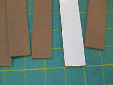 """4 pcs 2mm 1""""x9"""" sticky back closed cell foam in brown or black. Free shipping"""