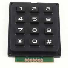 3x4 Matrix 12 TASTIERINO TASTIERA TASTI di utilizzo PIC AVR STAMP 69 x 51 x 10mm m3s0