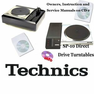 Technics SP-10 turntable service instruction owner manuals on CD-r SP10