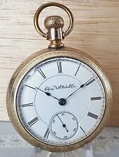 ANTIQUE ELGIN GOLD PLATED POCKET WATCH SIZE 18s SERIAL#4846377
