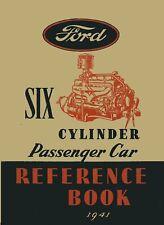 Bishko OEM Repair Maintenance Owner/'s Manual Bound for Ford 6 Cylinder Cars 1941