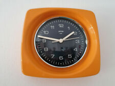 Vintage Space Age Wall Clock Orange Gorenje Mid Century Retro 70's Space Age