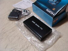 Full HD HDMI Splitter 1X4 4 Port  1080p 1 in 4 out * NEW BOX