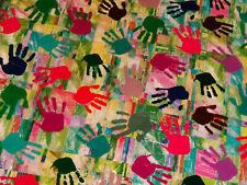 Wassertransferdruck Folie Bunt Hände Hand - 50cm breit