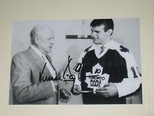 Toronto Maple Leafs VINCENT DAMPHOUSSE Signed 4x6 Photo NHL AUTOGRAPH