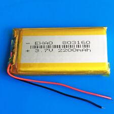 3.7V 2200mAh Li Po Rechargeable Battery For PC DVD GPS Camera PAD Phone 803160