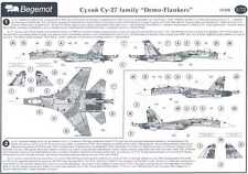 Begemot Decals 1/72 Russian SUKHOI Su-27 FLANKER Family DEMO FLANKERS