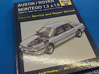 ROVER MONTEGO 1.3 & 1.6 1984-94' Haynes Manual Vgc!!!