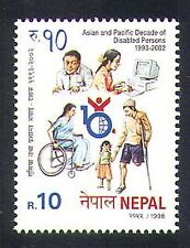 Nepal 1998 Disabled Year/Welfare/Health/Medical/Wheelchair/Computer 1v (n37213)