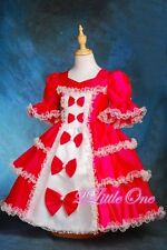 Hot Pink Girl Pageant Party Victorian Dress Princess Fancy Costume Sz 2T-3T 001