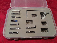 Low Shank Foot Feet 15 pc. Singer, Brother , Kenmore #004 Set Snap On