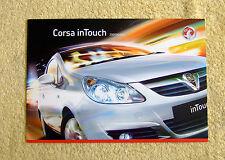 Vauxhall Corsa D, Intouch édition spéciale brochure, 2009 Modèles