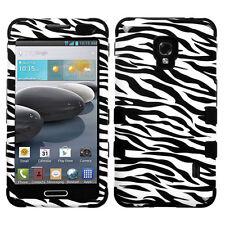 For LG Optimus F6 D500 MS500 IMPACT TUFF HYBRID Hard Case Skin Phone Cover Zebra