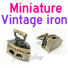 Dollhouse Miniature Vintage Metal Sewing Clothes Iron for Doll house Deco