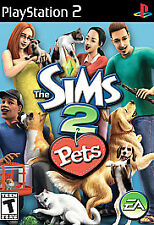 The Sims 2 Pets Sony PlayStation 2 2002 PS2 Video Game Disc Simulation Dog Cat