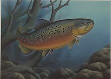 1986 North Dakota Trout Stamp Print and Stamp - Rainbow