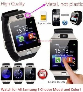 Bluetooth Wireless Smart Watch with Sim For Samsung S5 S6 Edge S7 S8 + S9 Plus