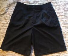 Alan Flusser Golf Men's 32 Black Pleated Front Shorts NWOT